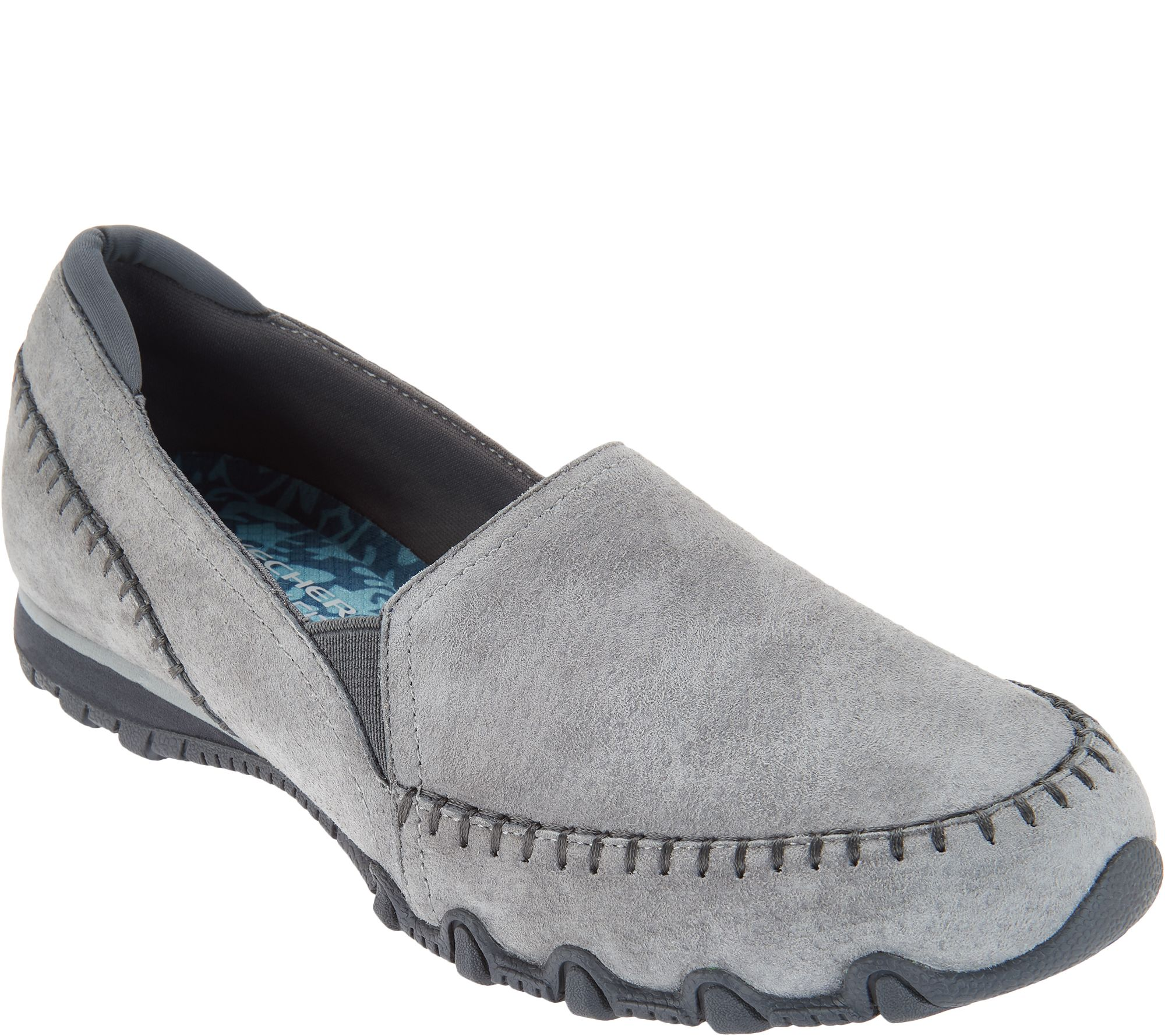 26fdaf04a1df Skechers Relaxed Fit Suede Slip-On Shoes - Alumni - Page 1 — QVC.com