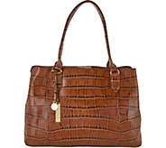 G.I.L.I. Leather East/West Croco Embossed Shopper - A299082
