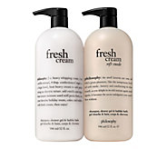 philosophy super-size fresh cream & soft suede shower gel duo - A351482