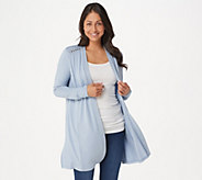 Dennis Basso Soft Touch Duster Cardigan with Rivets - A353182
