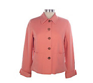 Jones Elements Pure Silk_Twill Easy Jacket__w/ Rollback Cuffs - A70282
