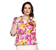 Joan Rivers Floral Bouquet 3/4 Sleeve Jacket - A230583