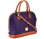 As Is Dooney & Bourke Pebble Leather Zip Zip Satchel - A257583