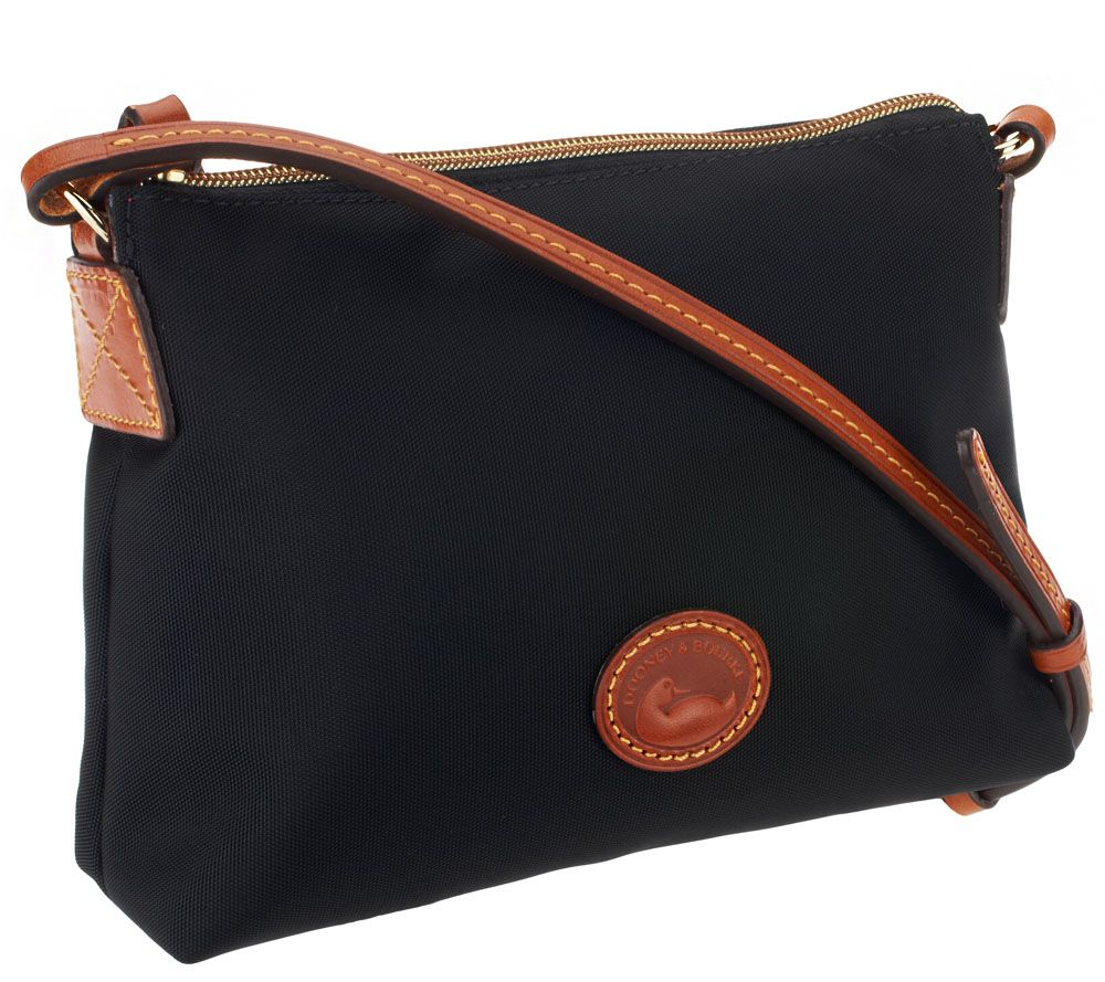c539211d1 Dooney & Bourke Nylon Crossbody Pouchette Bag - Page 1 — QVC.com