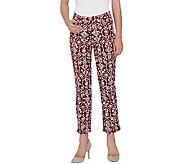 Liz Claiborne New York Jackie Straight Printed Ankle Jeans - A266183