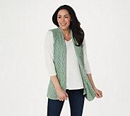 Kilronan Merino Wool Open Front Vest with Pockets - A275983