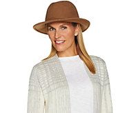 San Diego Hat Wool Felt Fedora with Removable Neck Wrap - A284383