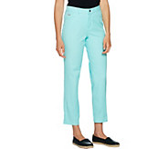 H by Halston Petite Studio Stretch 5-Pocket Ankle Pants - A289583