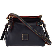 As Is Dooney & Bourke Florentine Leather Mini Zip Crossbody - A292883