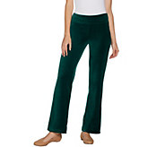 Denim & Co. Regular Stretch Velour Straight Leg Pull-On Pants - A299383