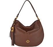 As Is orYANY Pebble Leather & Suede Hobo- Gabriella - A302783