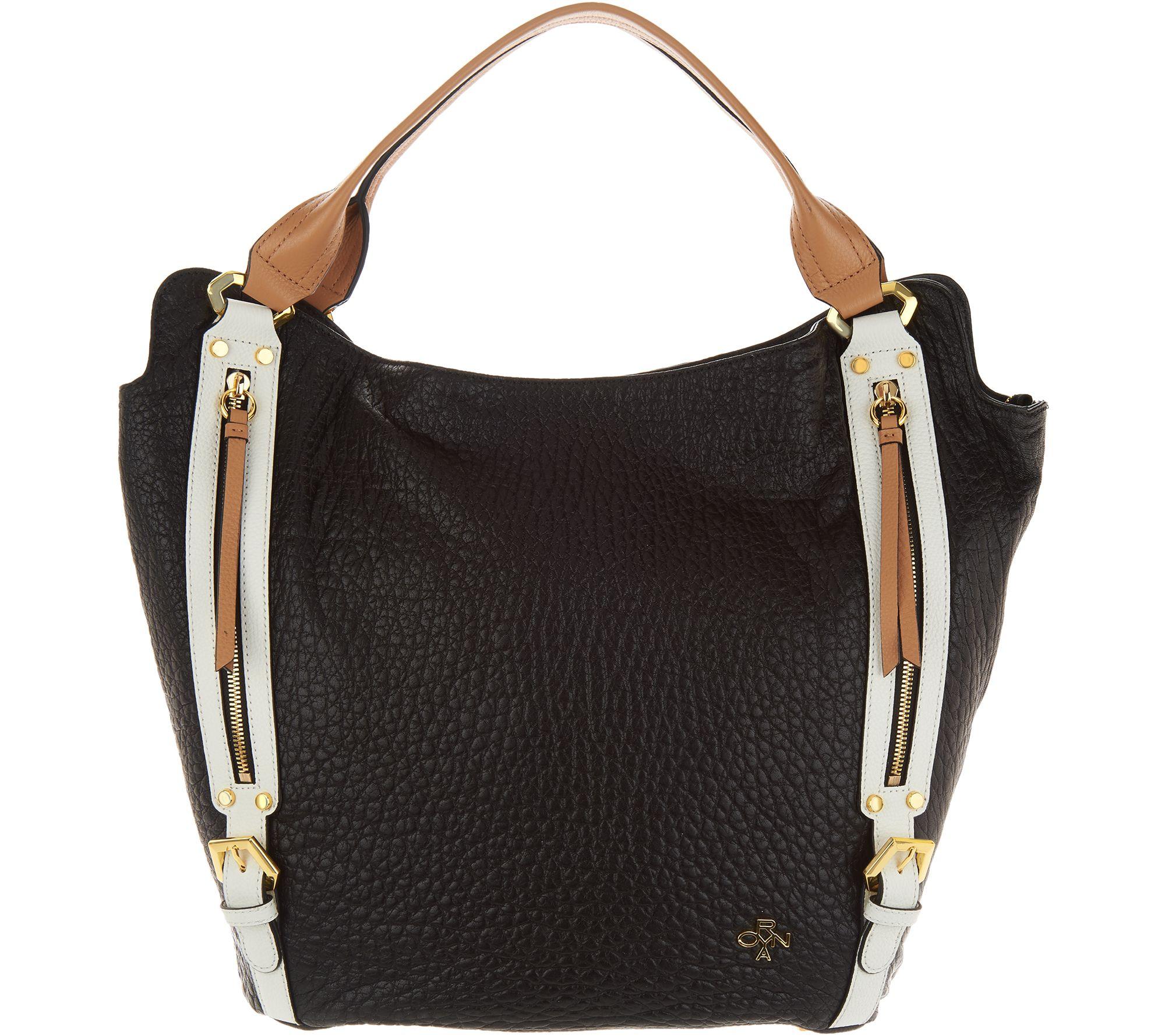 648b8186eda9 orYANY Lamb Leather Tote Handbag -Lauren - Page 1 — QVC.com