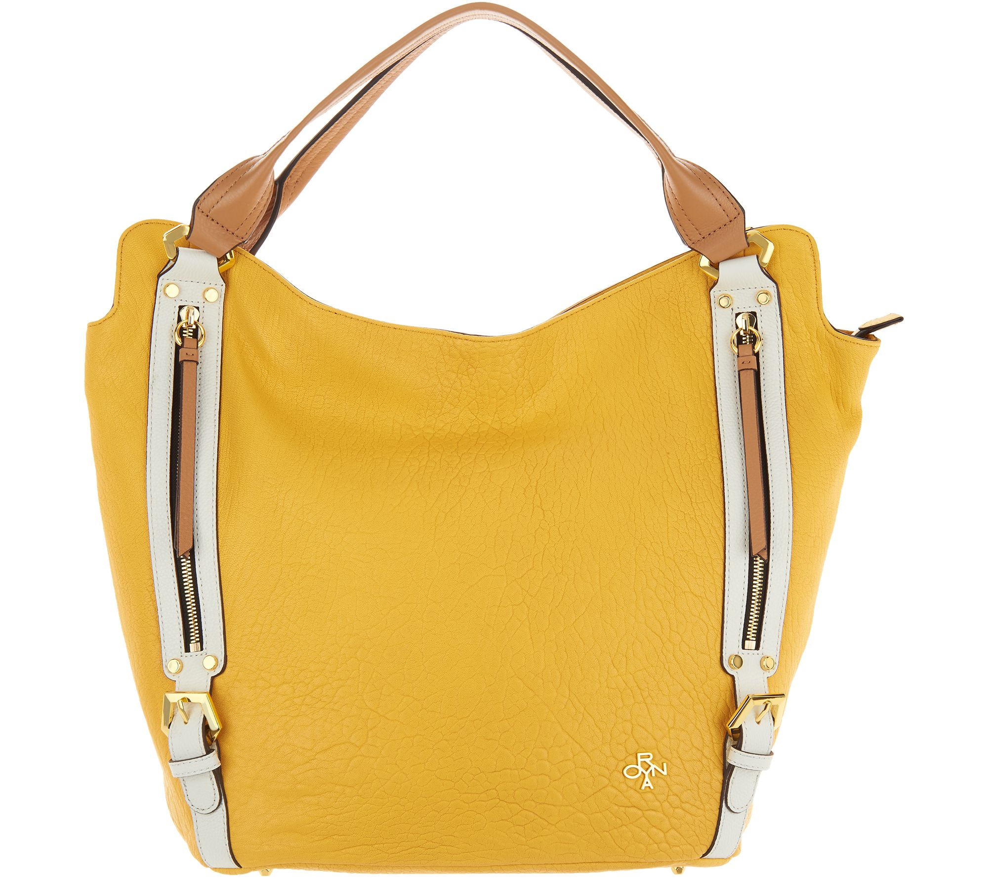 bdc43e8f1f orYANY Lamb Leather Tote Handbag -Lauren - Page 1 — QVC.com