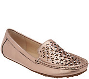 Isaac Mizrahi Live! Leather Studded Moccasins - A307583