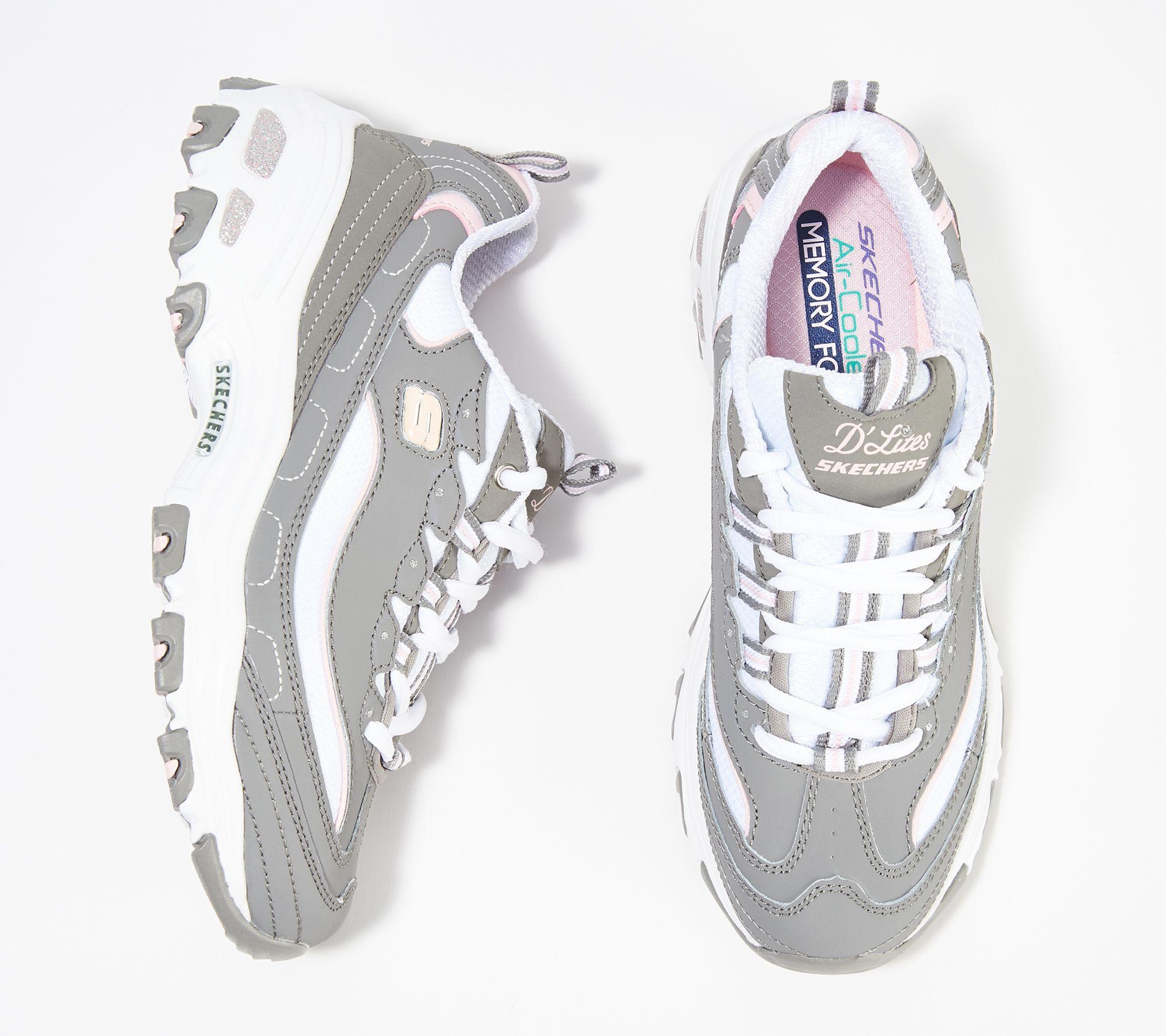 459fa316e27a Skechers D Lites Lace-Up Sneakers - Biggest Fan - Page 1 — QVC.com