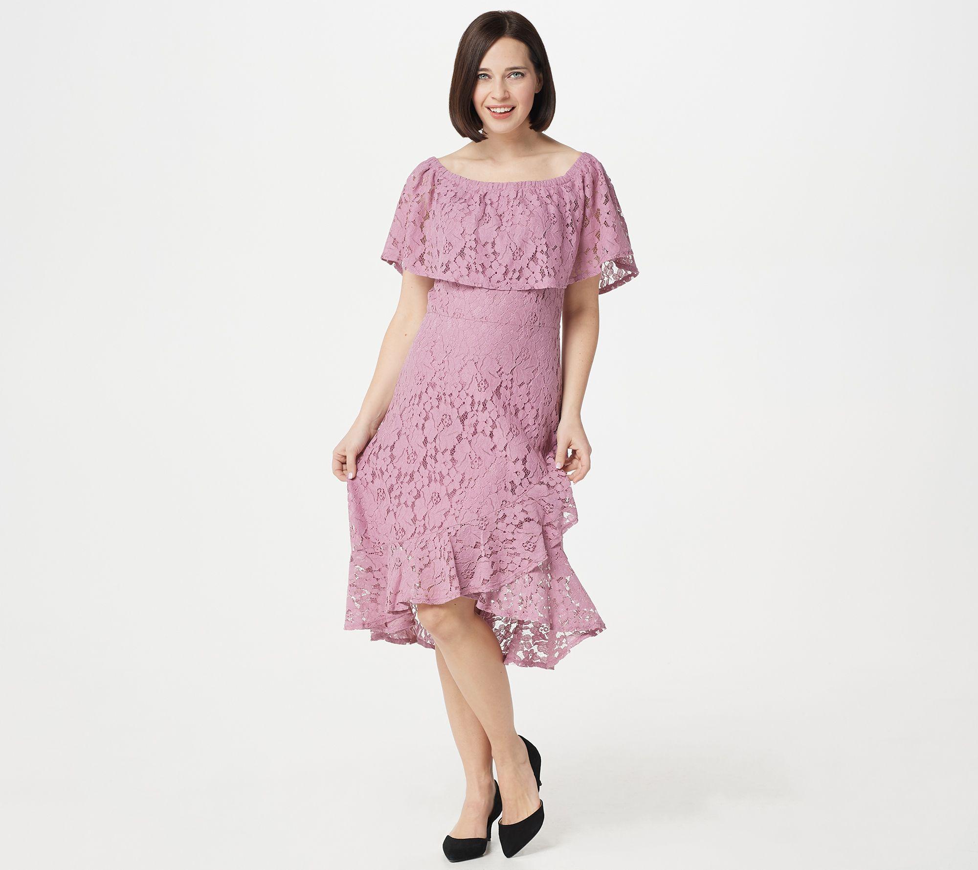 f1cc5549e9990e Isaac Mizrahi Live! Convertible Lace Dress with Tulip Hem - Page 1 — QVC.com