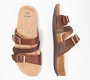 Earth Origins Leather Slide Sandals - Bosk Bayleen - A352483