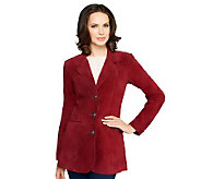 Denim & Co. Washable Suede Button Front Jacket with Pockets - A226384