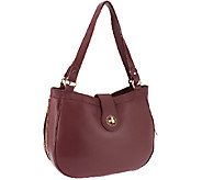 As Is Isaac Mizrahi Live! Bridgehampton Lamb Leather Hobo - A266284