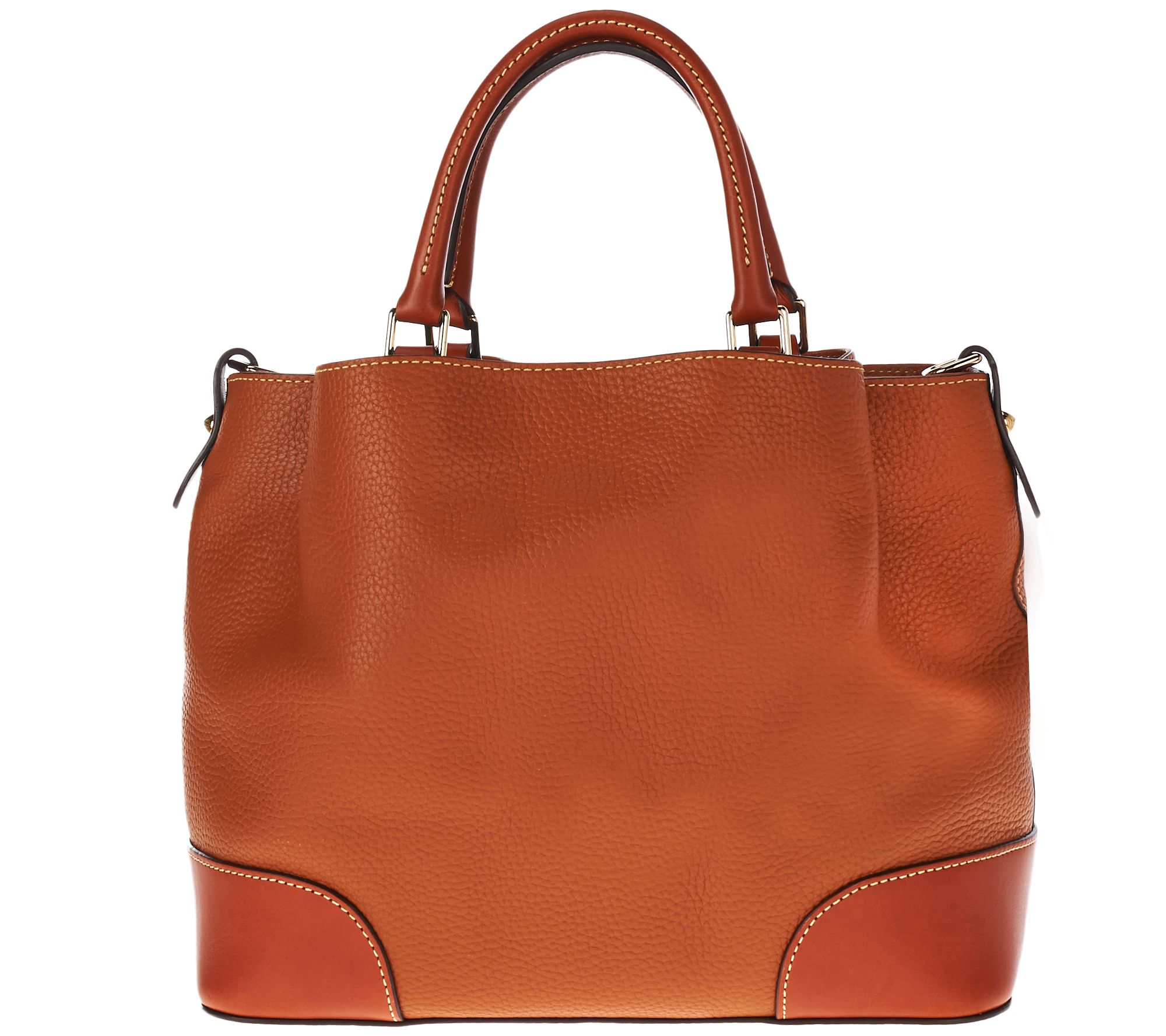 a57f0a1e10 Dooney   Bourke Pebble Leather Brenna Satchel with Accessories - Page 1 —  QVC.com