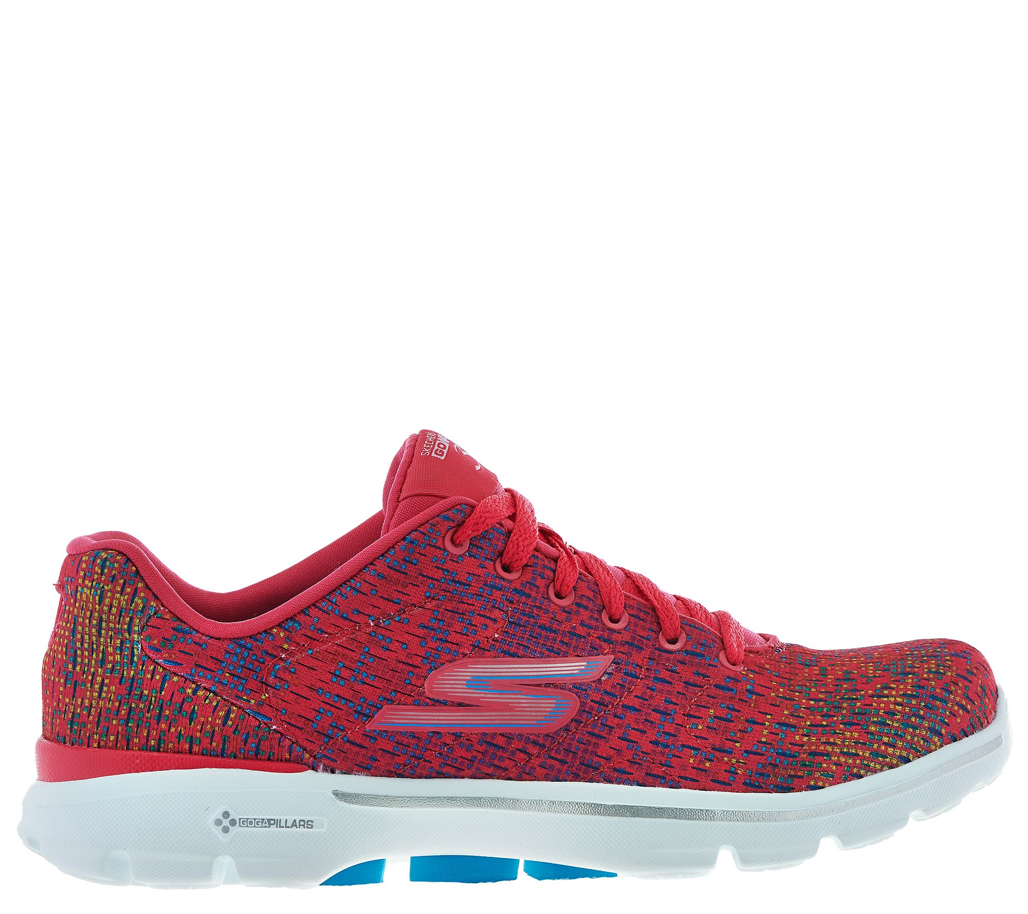 Skechers GO Walk 3 Printed Lace up Sneakers Digitize —