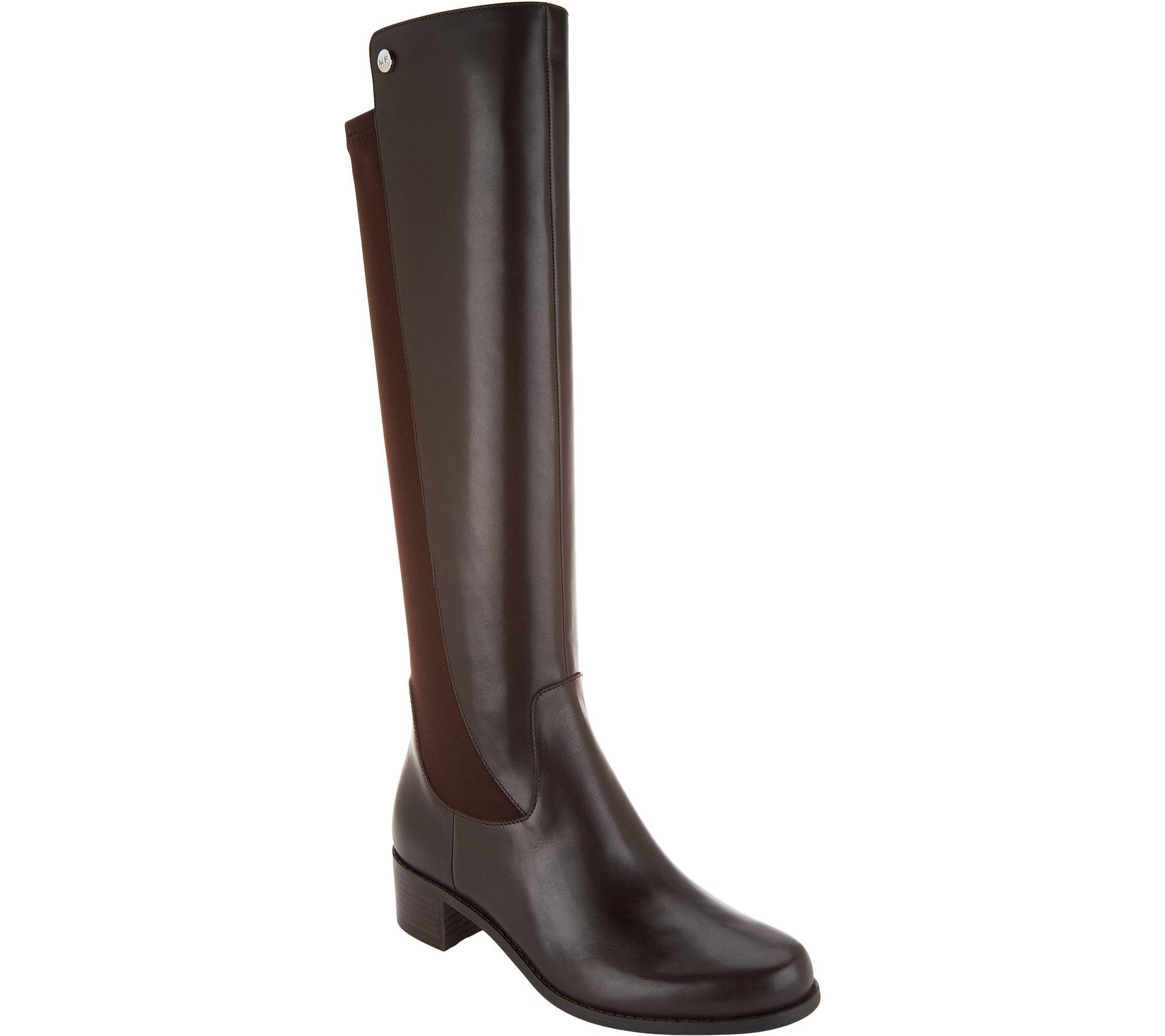e1eeb7f18 Marc Fisher Medium Calf Leather Tall Shaft Boots - Incept - Page 1 — QVC.com