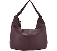 Tignanello Smooth Leather Soft Knot Hobo Handbag - A296484
