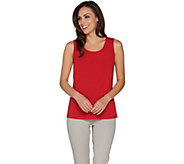 Susan Graver Modern Essentials Stretch Cotton Modal Tank Top - A302684