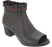 Lori Goldstein Collection Open Toe Booties with Ruching - A302884