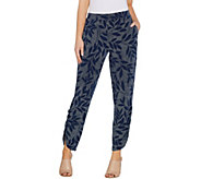 Susan Graver Regular Printed Liquid Knit Pull-On Ankle Pants - A304084