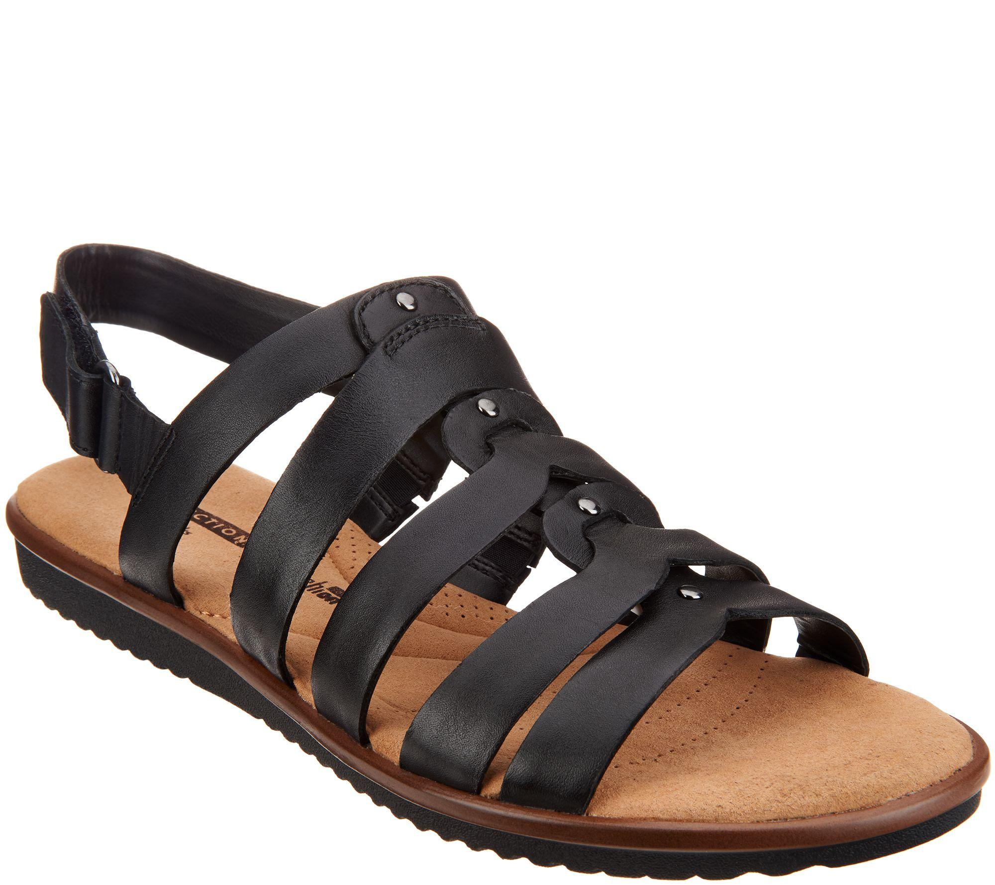 85fd9551a68f Clarks Leather Stud Detail Sandals - Kele Jasmine - Page 1 — QVC.com