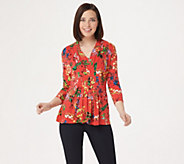 Laurie Felt Cinched Front V-Neck Top - A305684