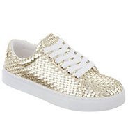 Isaac Mizrahi Live! Woven Fabric Tie Sneakers - A307584