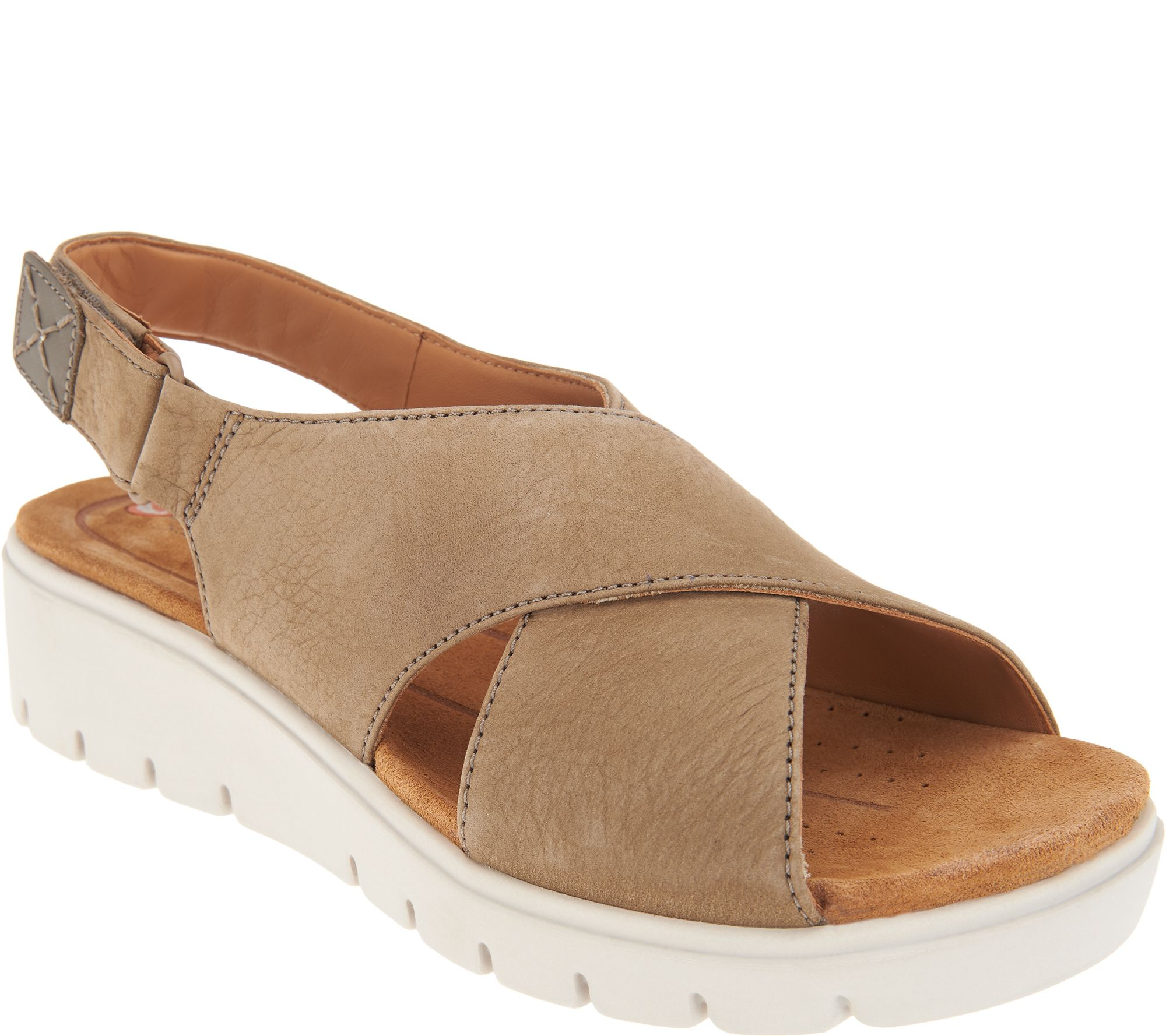 Clarks UnStructured Leather Low Wedge Sandals Un Karely
