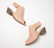 FLY London Leather Peep-Toe Heeled Sandals - Wone - A351184