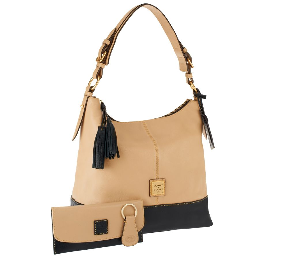 Dooney Bourke European Leather Sophie Hobo W Accessories Page 1 Qvc