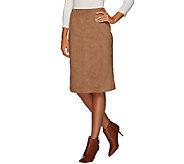 Susan Graver Faux Suede Slim Skirt - A269285