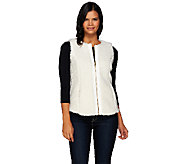 Denim & Co. Zip Front Faux Sherpa Vest - A270185