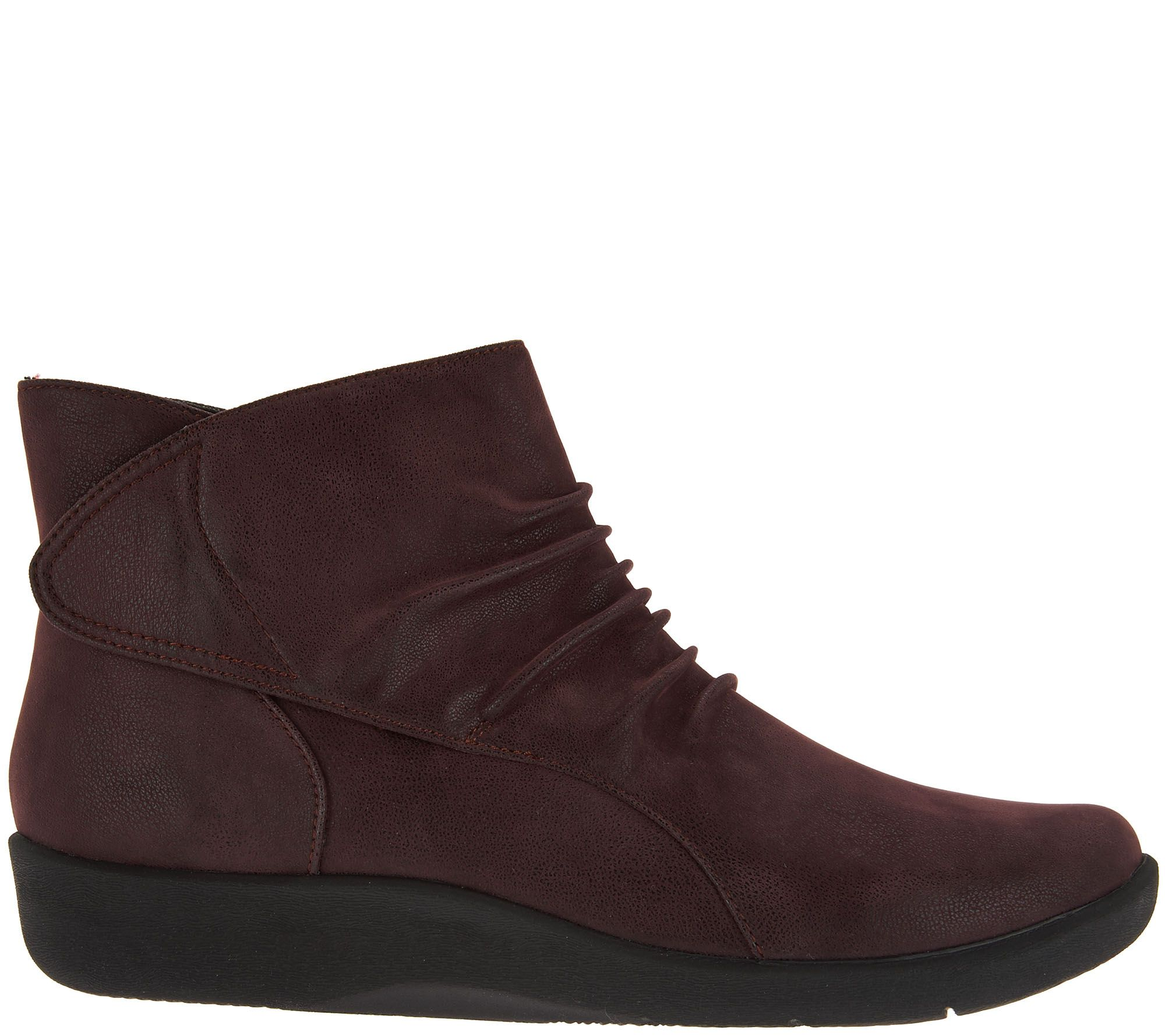 Cloudsteppers By Clarks Ruched Ankle Boots Sillian Sway