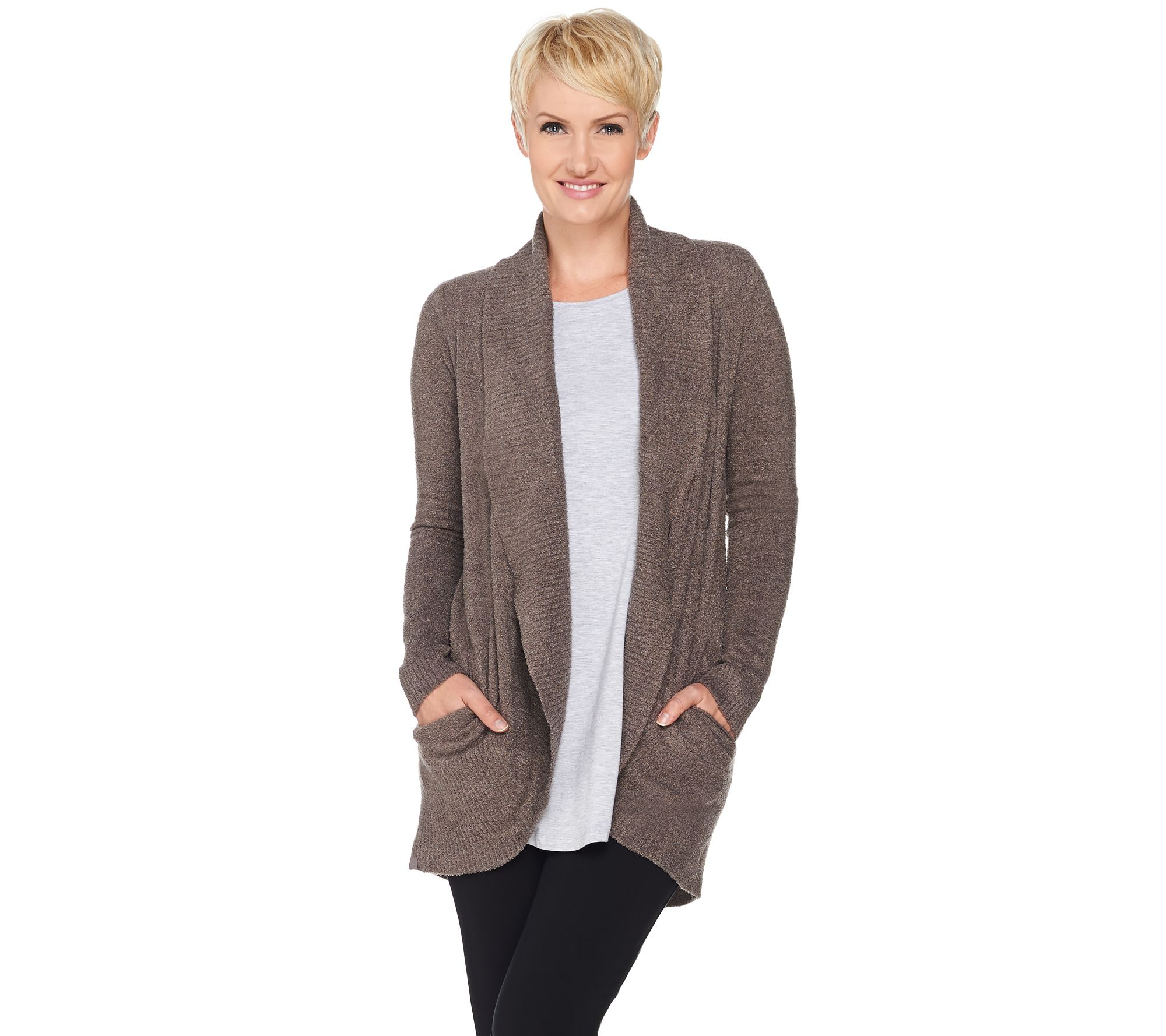 Barefoot Dreams Cozychic Lite Circle Cardi with Pockets - Page 1 ... 34cff66ce