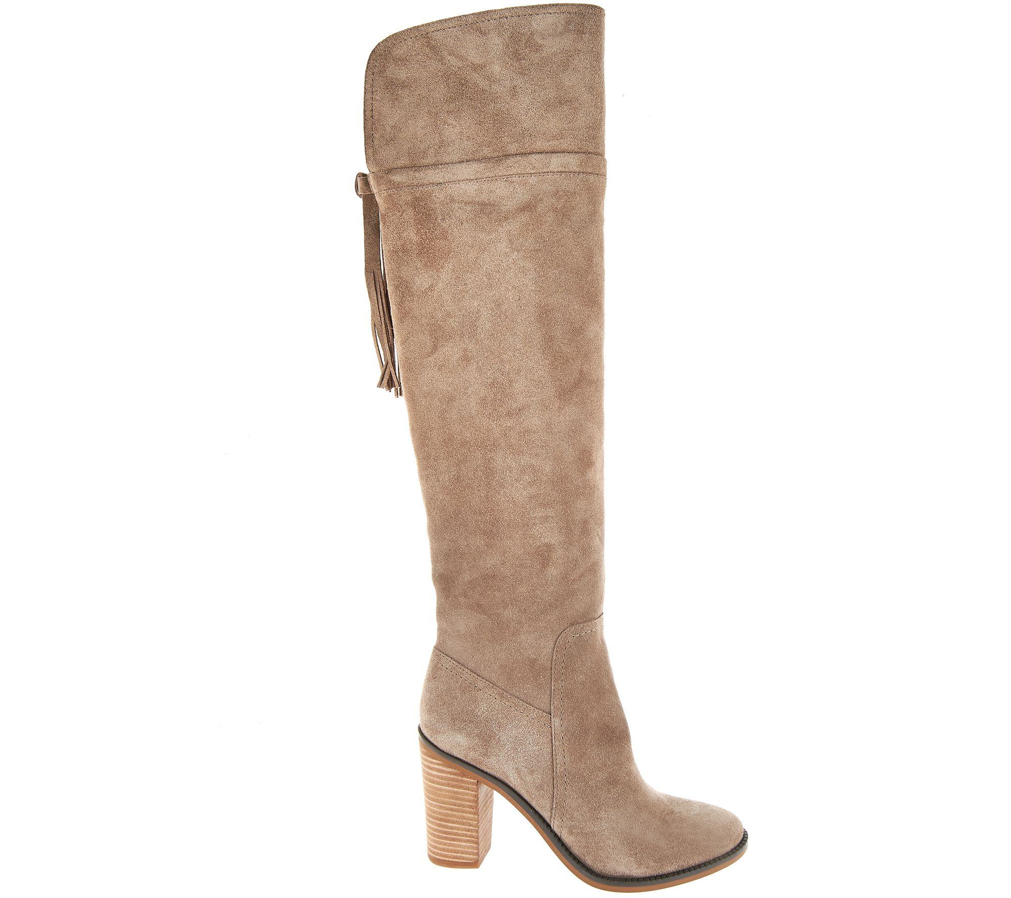3c62ab6b9f3 Franco Sarto Over the Knee Suede Boots with Tassel - Eckhart - Page 1 —  QVC.com
