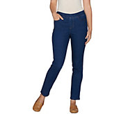 Denim & Co. Soft Stretch 2-Pocket Slim Leg Ankle Jeans - A282385