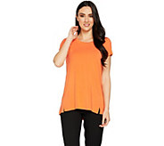 H by Halston Essentials Short Sleeve Scoopneck Knit Tunic - A289385