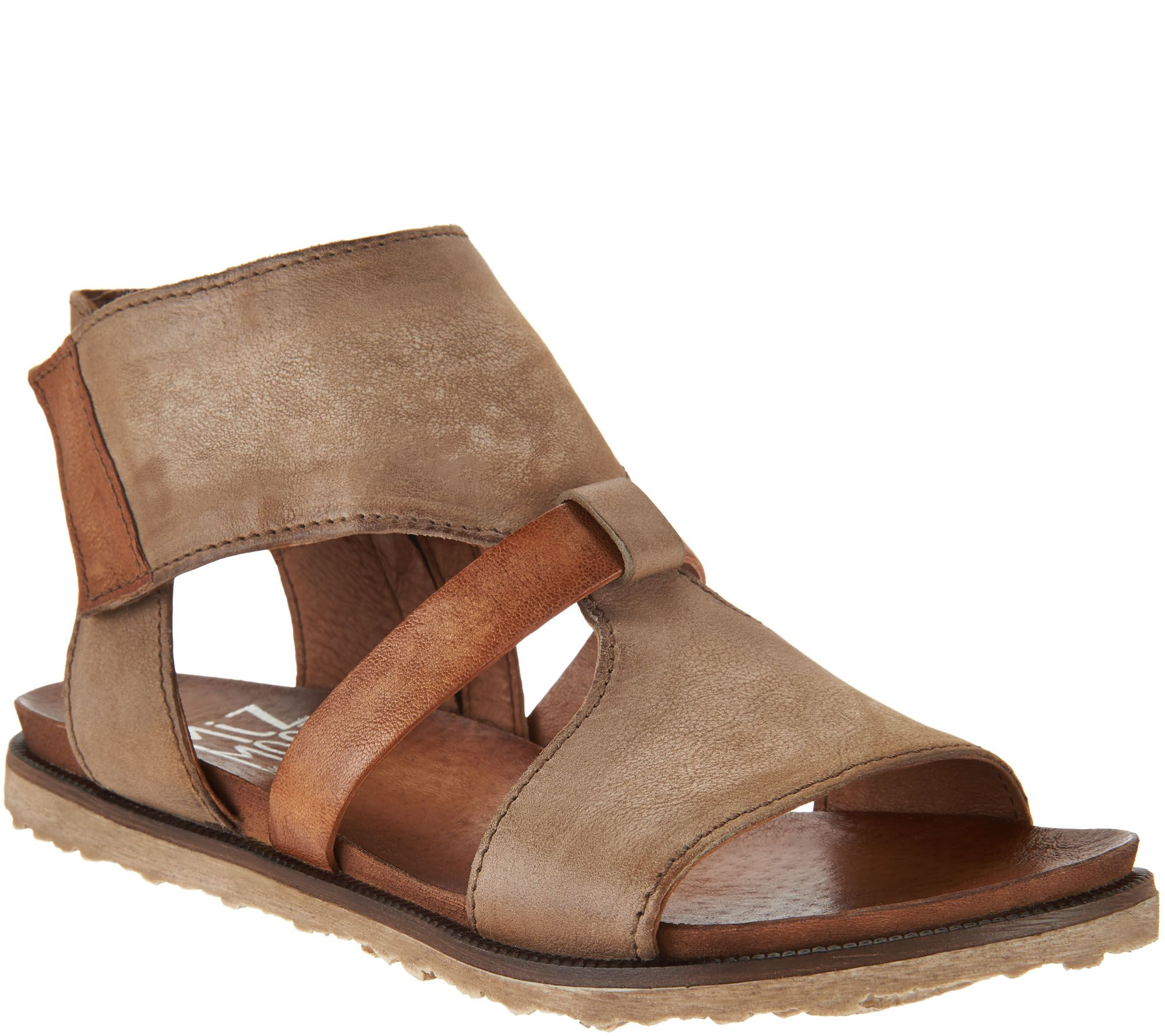 154527099ca5 Miz Mooz Leather Cut-out Sandals - Tamsyn - Page 1 — QVC.com