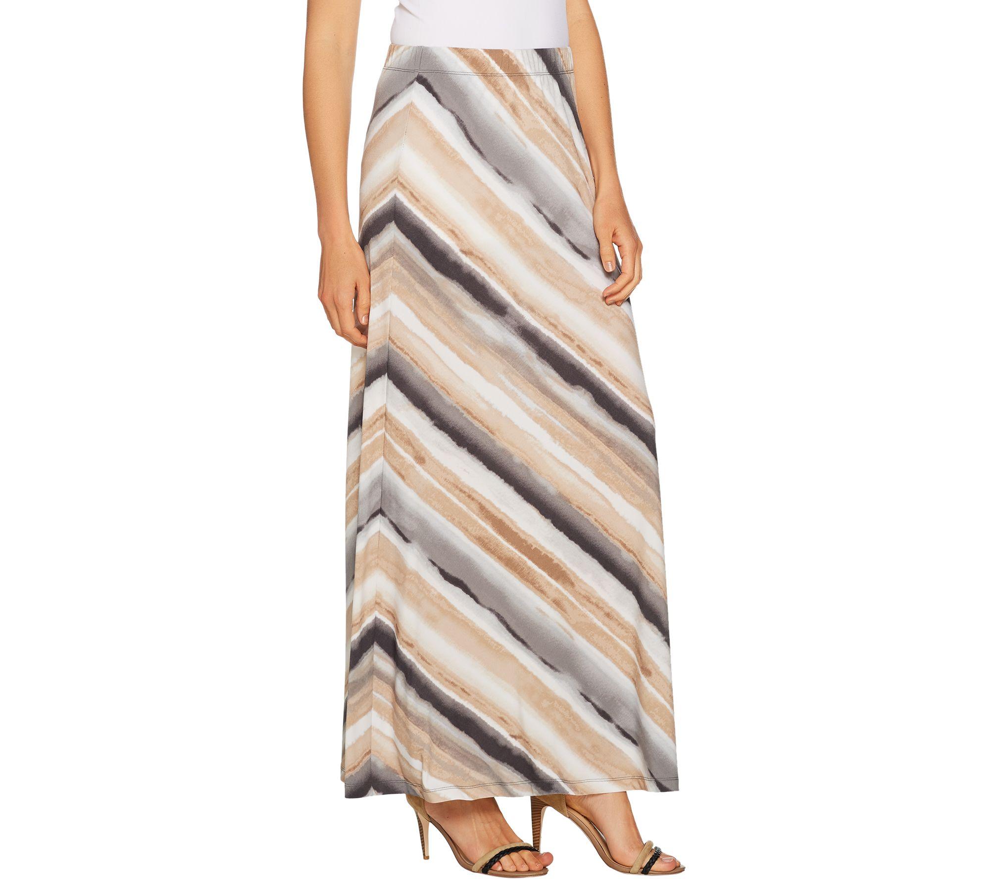 36d28aa670 Susan Graver Printed Liquid Knit Maxi Skirt - Regular - Page 1 — QVC.com