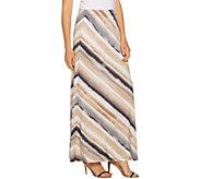 Susan Graver Printed Liquid Knit Maxi Skirt - Regular - A290785