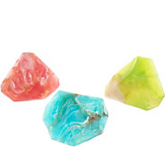 SoapRockettes Spring Glory Set of 3 Gemstone Soaps - A293685