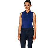 Kathleen Kirkwood Dictrac-Ease Polo Collar Layering Cami - A294585