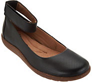 As Is Clarks Leather Perforated Flats - Medora Nina - A295085
