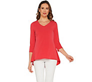 Susan Graver Modern Essentials Liquid Knit Peplum Top - A302685
